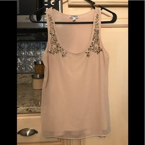 Express top. Size XS. Nude color, embellishments.